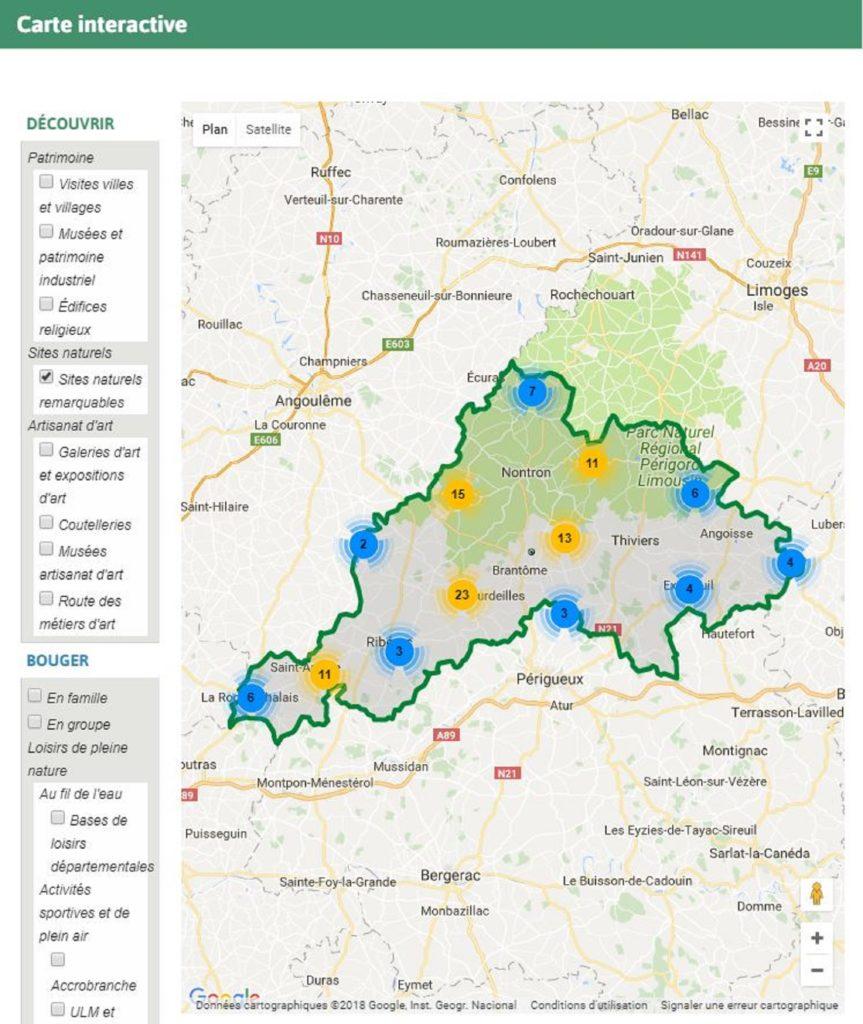Carte interactive - Périgord vert