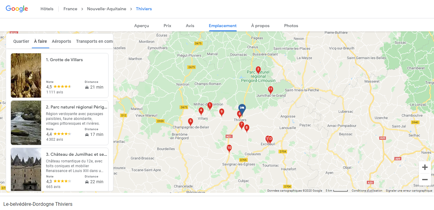 Google carte interactive